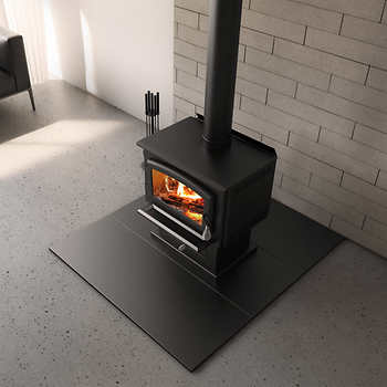 Wood Stove Inexpensive Hearth Pad Black Friendly Fires