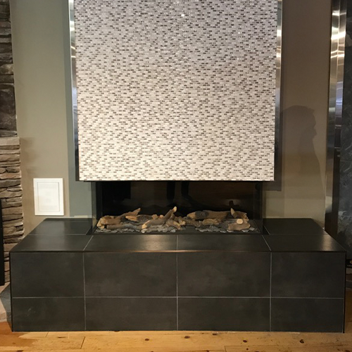 Lennox 3 Sided Propane Fireplace: Clearance: Bellfire 3 Sided Clean View Gas Fireplace