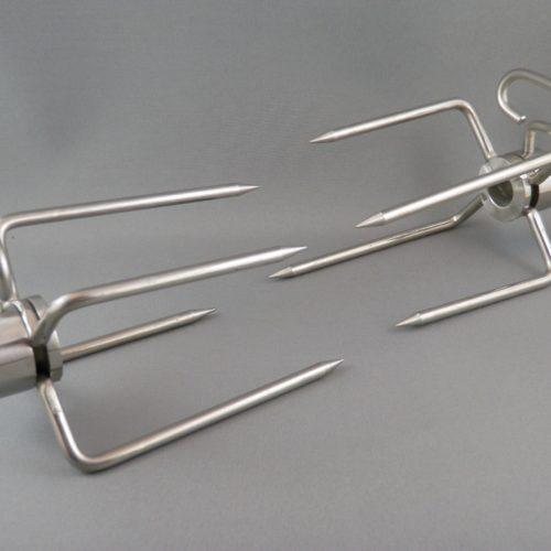 Jackson Grills Rotisserie Fork Kit S/S 2013 and newer LUX & Supreme series (JR-49) Friendlyfires.ca